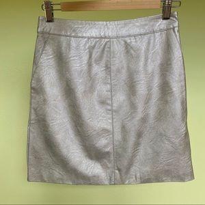 Topshop Size US 4 Mini Silver Skirt
